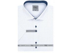 Košile AMJ Slim fit s krátkým rukávem -  bílá