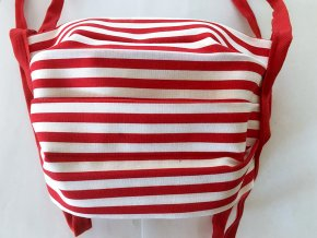 Bavlněná rouška s kapsou - pruhovaná