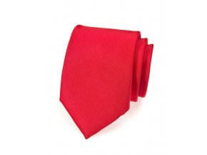 Kravata Avantgard - červená matná