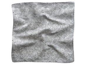 Klasický kapesníček do saka - stříbrný
