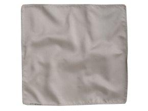 Hedvábný kapesníček do saka - stříbrný