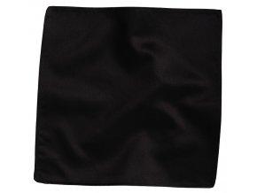 Hedvábný kapesníček do saka - černý