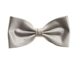 Dvojitý hedvábný motýlek Brinkleys Classic - stříbrný