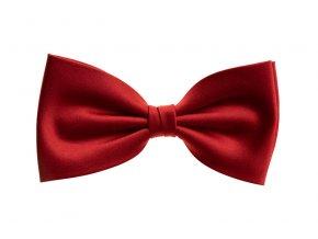 Dvojitý hedvábný motýlek Brinkleys Classic - červený