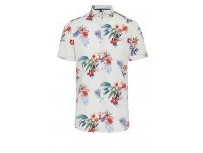Košile Pure Slim Fit s krátkým rukávem - Havajská
