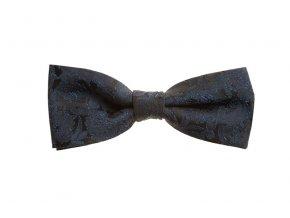 Dvojitý motýlek Brinkleys Modern s kapesníčkem - černo-modrý