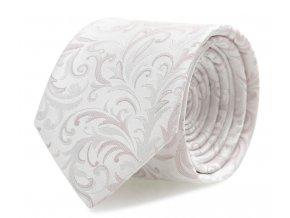 Kravata s kapesníčkem Brinkleys - jemě růžová