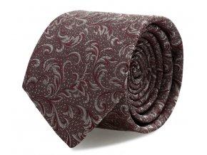 Kravata s kapesníčkem Brinkleys - červeno-stříbrná