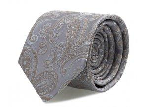 Kravata s kapesníčkem Brinkleys - stříbrno-béžová