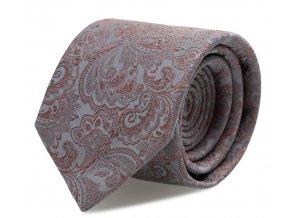 Slim kravata s kapesníčkem Brinkleys - stříbrno-červená