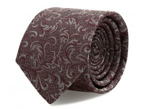 Slim kravata s kapesníčkem Brinkleys - červeno-stříbrný