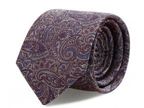 Slim kravata s kapesníčkem Brinkleys - červeno-modrá