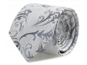 Slim kravata s kapesníčkem Brinkleys - modro-šedá