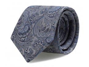 Slim kravata s kapesníčkem Brinkleys - modro-stříbrná
