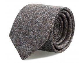 Slim kravata s kapesníčkem Brinkleys - modro-béžový
