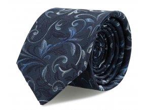 Slim kravata s kapesníčkem Brinkleys - marine