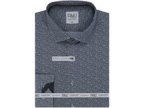 Pánská košile AMJ Comfort fit se vzorem - šedá