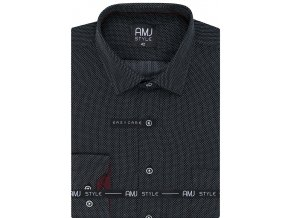 Pánská košile AMJ Comfort fit - šedá