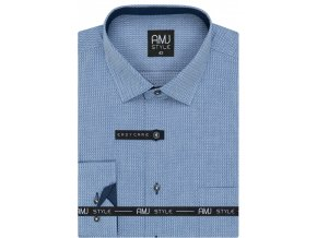 Pánská košile AMJ Comfort fit vzorovaná - modrá