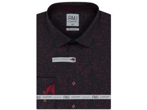 Pánská košile AMJ Slim fit - vínová