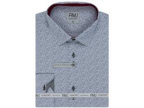 Pánská košile AMJ Slim fit vzorovaná - šedá