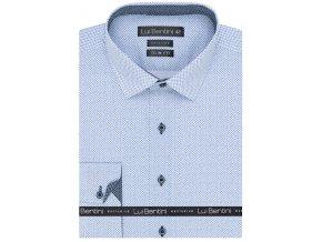 Luxusní bavlněná košile Lui Bentini Slim fit - modrá