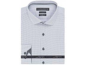 Luxusní bavlněná košile Lui Bentini Slim fit - bílá