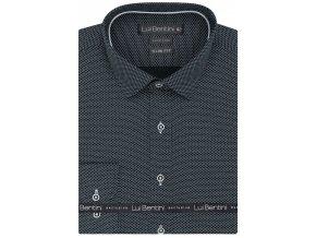 Luxusní bavlněná košile Lui Bentini Slim fit - šedá