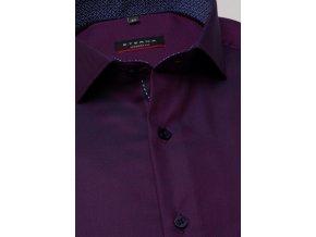 """Košile Eterna Modern Fit """"Twill"""" s prodlouženým rukávem Vínová"""
