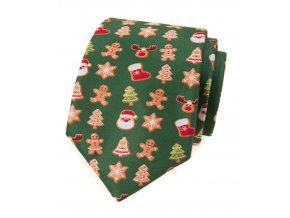 Kravata Avantgard Lux - zelená / perníček