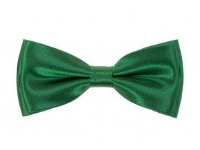 Dvojitý motýlek Avantgard s kapesníčkem - zelený