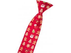 Chlapecká kravata Avantgard - červená / perníček