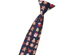 Chlapecká kravata Avantgard - modrá / perníček