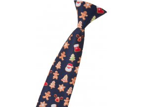Chlapecká kravata Avantgard Young - modrá / perníček