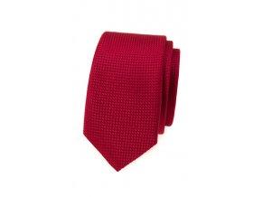 Úzká kravata Avantgard - červená