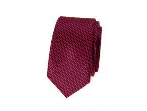 Úzká kravata Avantgard - červená / modrá