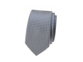 Úzká kravata Avantgard - šedá