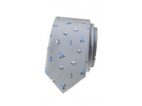 Úzká luxusní kravata Avantgard - šedá