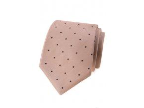 Kravata Avantgard Lux - béžová / puntík