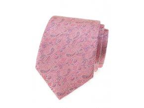 Kravata Avantgard Lux - růžová / šedá