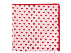Kapesníček Avantgard LUX bavlněný - srdce