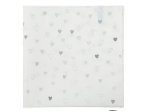 Kapesníček Avantgard LUX bavlněný - bílý / srdce