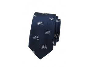 Úzká kravata Avantgard Lux - modrá / kola