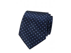 Kravata Avantgard - modrá s puntíky