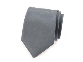Kravata Avantgard - šedá matná