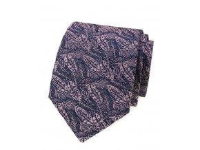 Kravata Avantgard Lux - modrá / růžová