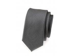 Úzká kravata Avantgard Lux - grafitová