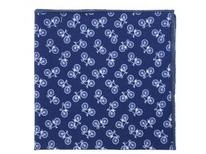 Kapesníček Avantgard LUX bavlněný - modrý / kolo