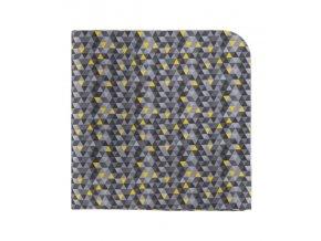 Kapesníček Avantgard LUX - šedý / žlutý