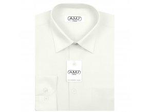 Pánská košile AMJ Slim fit - smetanová